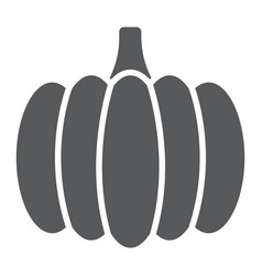 Pumpkin glyph icon vegetable and food vector