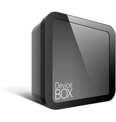 Realistic Black Package Box Square shape with a vector