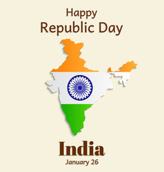 republic day in india is a greeting card or vector image