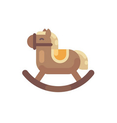 Rocking horse flat toy horse christmas present vector
