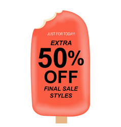 sale poster with ice cream vector image