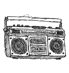 scribble series - boombox vector image