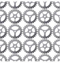 seamless pattern background with gears vector image