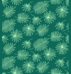 seamless pattern made of palm leaves on white vector image