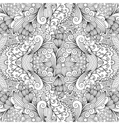 Seamless textile pattern with decorative shapes vector image