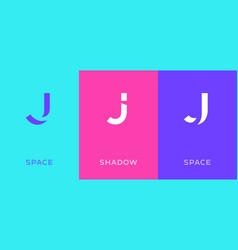 Set letter j minimal logo icon design template vector