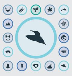 set of simple geo icons elements polar bear vector image