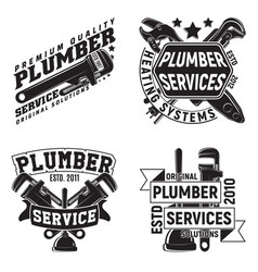 set of vintage emblem design vector image