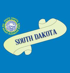 South dakota scroll vector