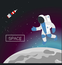 space concept background flat style vector image