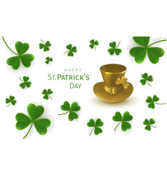 st patricks day greetings card vector image
