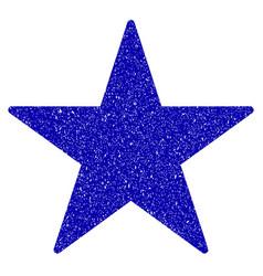 star icon grunge watermark vector image