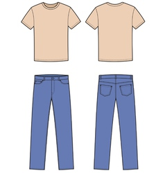 T-shirt and jeans vector image
