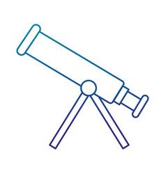 Telescope device isolated icon vector