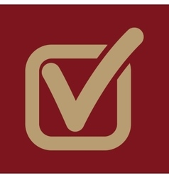 The check icon Checkmark and checkbox yes vector image