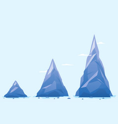 three mountain milestones vector image