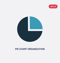 two color pie chart organization icon from user vector image