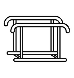 uneven bars icon outline style vector image