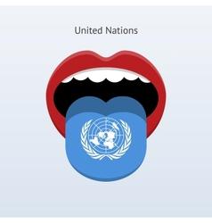 United Nations language Abstract human tongue vector
