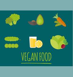 Vegan food nature restaurant fruit vegetarian vector