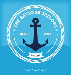 vintage style nautical anchor vector image