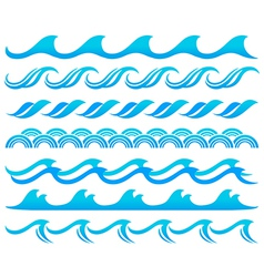 Wave element set vector image