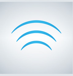 wifi signal waves icon flat design style in blue vector image