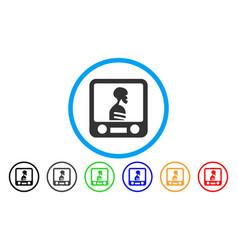 Xray screening rounded icon vector