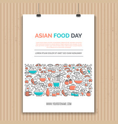 asian food templates vector image vector image