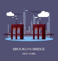 brooklyn bridge new york vector image vector image