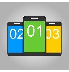 Concept for mobile apps Flat design vector image