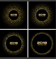 happy new year 2018 card backgrounds vector image