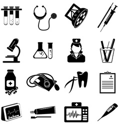 Healthcare and medical icons set vector image vector image