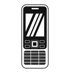 Mobile phone black simple icon vector image