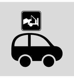 truck crane sign graphic vector image