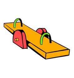 yellow seesaw icon icon cartoon vector image vector image
