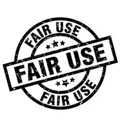 Fair use round grunge black stamp vector