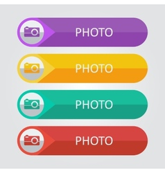 flat buttons photo vector image vector image
