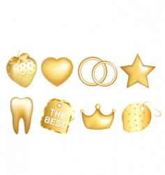 golden set vector image vector image