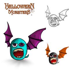 Halloween monsters freak bat eps10 file vector