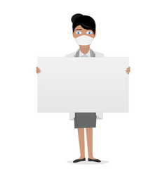 nurse in a white lab coat medical staff the vector image vector image