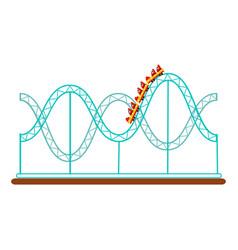roller coaster rollercoaster amusement park ride vector image