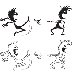 shadow people the slip vector image vector image