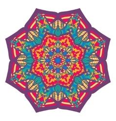 Beautiful colorful arabic geometric ornament round vector image