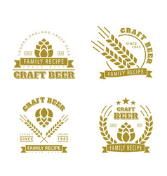 beer set of emblems vector image