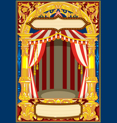carnival circus template vector image