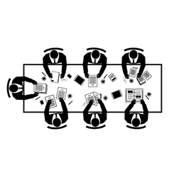 Conference top view vector image vector image