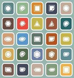 Label flat icons on blue background vector image vector image