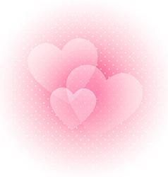 Light Valentines background vector image