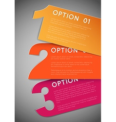 One two three - progress background vector image vector image